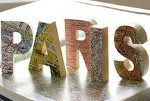 Crafty Ideas: Maps / Craft ideas using maps for projects, decor, tutorials and more