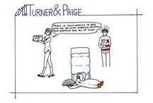 Turner, Paige & Pablo, our library cartoon