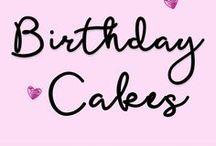 Birthday Cakes / A variety of ideas for birthday cakes.