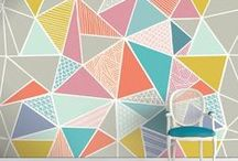 Gorgeous Geometrics / So on trend at the moment - great colours and fab design ideas for modern style. / by The Homemade Haven | Craft Supply and Gift Shop
