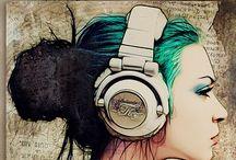 drawings ,illustrations, etc. / by ♛Anna Villarta