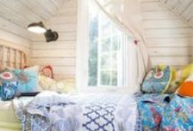 Kid's rooms I love / Kids, left on their own, are fearless designers.  They are bold and imaginative and their rooms should encourage that behavior.
