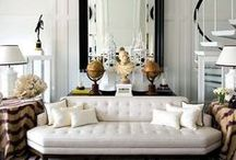 Living rooms I love / These spaces should wrap around you and make you feel safe and maybe a little luxurious.