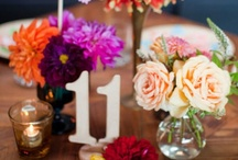 table numbers + place cards