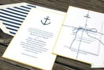 nautical inspired wedding / Blue and yellow nautical inspired wedding