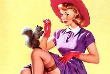Pin-up Pretties / The pin-up woman exudes confidence and is visual example of female independence. / by Kristin Studle