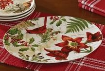Christmas Decorating and Entertaining Ideas by LANG / Set a beautiful table for the holidays with Christmas Dinnerware and Table Linens / by LANG