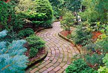 GARDEN:  DOWN THE GARDEN PATH / Gorgeous garden paths, gates, landscaping, flowers, statuary, etc.