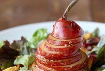 RECIPES:  SALADS, SANDWICHES, SOUP / An assortment of sandwiches, salads/salad dressing and soup.