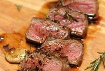 RECIPES:  BEEF, BURGERS & PORK / Beef dishes, assortment of burgers and pork recipes.