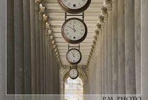 INTERIORS:  IT'S TIME / Clocks used in interior design and clock vignettes.