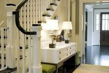 INTERIORS:  FOYERS, HALLS, & STAIRWAYS / A collection of Foyers, entryways, halls and stairways.