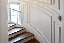 INTERIORS:  DETAILS / collection of millwork, upholstery/slipcover/curtain details