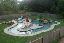 Pool: above ground, decks / by Jill Bremer