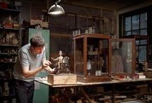 """{ Art Studios } / """"Where I create, there I am true""""~ Rainer Maria Rilke....Work spaces of creative people..  *  art studios  *   artist studio  *   ateliers   *   craft rooms   *   sewing rooms   *   ceramic studios  *   design studios  *"""