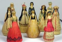 """{ Dolls around the World } /  Dolls and Figures from various cultures and time periods..See """"Dolls of Yore"""", """"Cloth Dolls"""", """"Chinese Opera Dolls' and """"Dia de los Muertos"""" boards for related links."""
