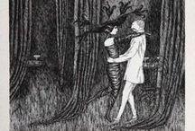 { Edward Gorey } / The work of American writer & artist Edward Gorey (1925-2000).