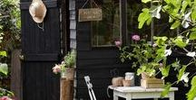 """{ Greenhouses & Garden Sheds } / Green houses, garden sheds, potting benches,etc..~Also see """"Garden"""" and """"Gardening tips & supplies"""" boards for related info."""