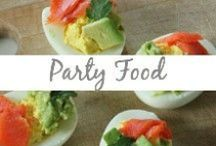 Party Food / Party dishes, appetizers, snacks, entertainment, dips, sliders, skewers, sweets