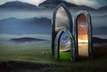 """Portals / """"In the universe, there are things that are known, and things that are unknown, and in between, there are doors.""""  ~ William Blake / by Vicki Burkhardt"""
