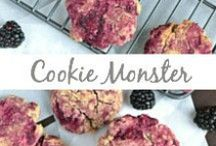 Cookie Monster / Sugar cookies, chocolate chip cookies, holiday, peanut butter, gingersnaps, shortbread cookies, thumbprints, oatmeal cookies, monster cookies