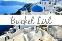 Bucket List / Places I need to see! Vacation, beach, culture, rest and relaxation, honeymoon