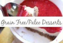 Grain Free/Paleo Desserts / Paleo desserts, grain free treats, gluten free desserts