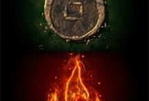 4Elements / Nature's Elements. The spectacular wonder of the four elements of nature, air, water, earth and fire!  -NO PEOPLE AND NO MARCHANDIZING-