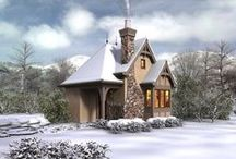 House Plans Dressed for Winter / Our designers had some fun winterizing their house plans for the Holiday Season.  / by Best-Selling House Plans