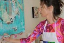 Videos / Videos of mixed media painting with Kellie Day