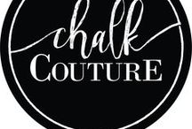 Chalk Couture / WHAT IS CHALK COUTURE? Chalk Couture allows you to create a one of a kind design using reusable silk transfer screens and chalk paste. When used on a chalkboard, it is smudge proof but when the season changes, you can wash off your design and create a new one! We can also seal it so it can be enjoyed for years to come!  Liz.ChalkCouture.com