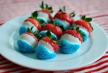 Fourth of July / Red, White and blue.