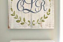 Ways to monogram / by Linda Gildersleeve Caudell