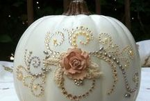 DECORATED AND PAINTED PUMPKINS / by JGW