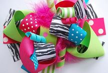 Hair Bow Gallery / Hair bows & , headbands / by Jay Forde
