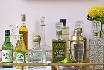 Bar Carts + Barware / A collection of my favorite carts and the gorgeous vintage barware that goes with them.