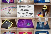 Busy bags / Bags with activities to keep little ones busy