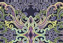 Scrappy Bee 3x6.I [purple/ green] / Kc Modern Quilt Guild 3x6 Swap - fall 2013