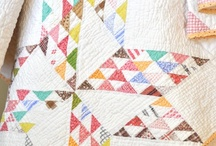 Antique Quilts / I love the wrinkled look of antique quilts. My favourites often have a white background.