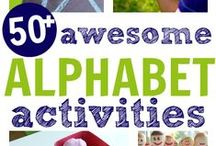 Learning the Alphabet / Fun activities, songs, games and printables to teach children the alphabet in preschool and kindergarten.