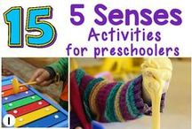5 Senses Preschool & Kindergarten Lesson Ideas / Interactive crafts and activities to teach preschool and kindergarten children about the five senses: hearing, touch, taste, smell and sight.