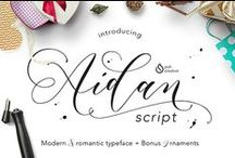 Free Fonts / Handpicked free fonts to create a beautiful design. Ranging from script, display, sans serif, serif, and more.
