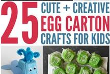 Recycled Crafts / Teach your children to respect the environment and save money with these fun and creative recycled crafts!