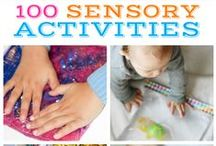 Sensory Crafts / Hands on, DIY sensory crafts and projects that are easy to make and that your children will enjoy!