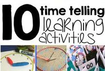 Telling Time / Crafts and activities to teach children in preschool and kindergarten how to tell time. Interactive activities to make telling time fun & easy to learn!