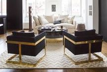 Living and Family Room Design & Ideas / by Birgit Anich Staging & Interiors