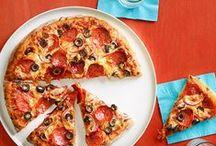 Pizza, Pizza, Pizza / Pizza, pizza and more pizza. Yummy, cheesy, gooey, sometimes healthy, pizza goodness.
