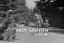 """The Andy Griffith Show / TAGS has been more than just a TV show for me my entire life.  It has been my """"happy place"""" when I was feeling down.  It has made me laugh, smile, cry.  It is the life that I wish I could have really had.  I have been to Mount Airy, NC which is where Andy Griffith grew up and was his inspiration for """"Mayberry""""...it's the most wonderful little town...I want to walk the streets and see Andy & Barney at the diner or Goober & Floyd with a bottle of pop at the filling station! What a peaceful life. / by Kimberly Michelle"""