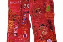 TEXT-ile / Words in fabric and embroidery.