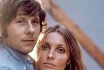 """Sharon, Roman and """"Rosemary"""" / Sharon Tate and Roman Polanski were an adorable couple. Their love and family were cut short by Sharon's murder in 1969. Roman had directed and produced the movie, """"Rosemary's Baby"""" starring Mia Farrow in 1968. It has become a cult classic and is a wonderfully sweet portrayal of """"Rosemary"""" by Mia. It also starred John Cassavetes and the wonderful Ruth Gordon among many others. I am fascinated by Roman and Sharon ...  and Rosemary's Baby is one of my favorite movies. / by Kimberly Michelle"""